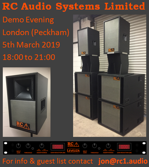 RC Audio Systems Demo Evening March 2019